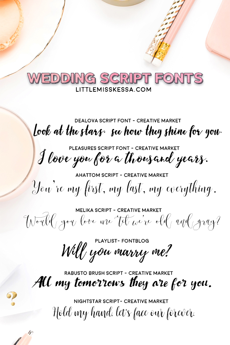 FALL IN-LOVE WITH WEDDING SCRIPT FONTS AGAIN + GIVEAWAY - A
