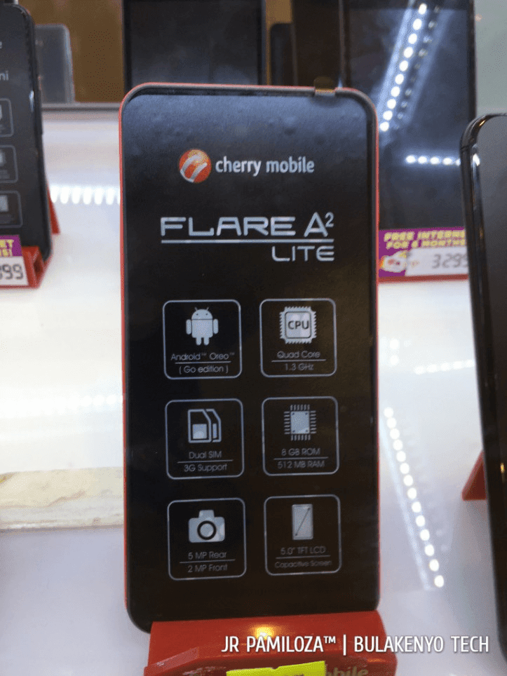 Cherry Mobile Flare A2 Lite, Flare J2 (18), and Flare HD 4