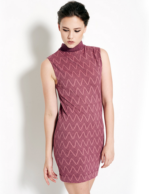 Zig Zag Pattern Sleeveless Dress