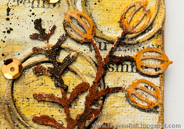 Layers of ink - Winter Plants Mixed Media Canvas by Anna-Karin