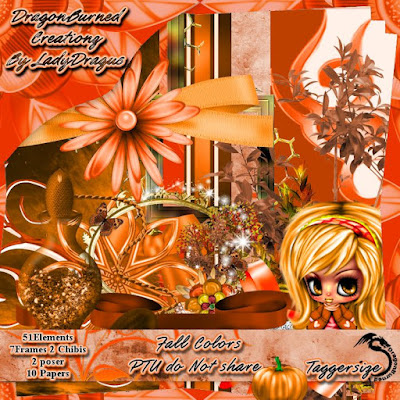 Fall Colors - A Scrap Kit made by Trish Schaffer aka Lady Dragus