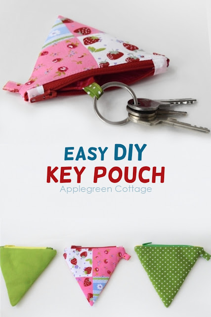 How to make a key pouch from a coin purse. ​How to turn any coin purse into a key pouch using this easy sewing tip. Easy sewing project and a great diy gift.