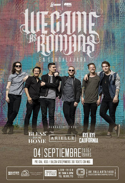 WE CAME AS ROMANS 4 SEPTIEMBRE