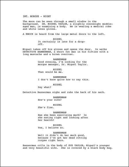Resultado de imagen de guion de cine