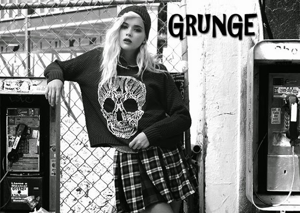 O grunge fez e faz muito sucesso no mundo da moda d6486b142fa