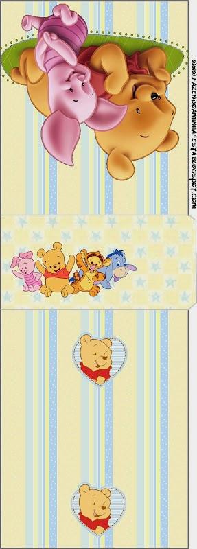 Winnie the Pooh Bebé: Etiquetas para Candy Bar para Imprimir Gratis.