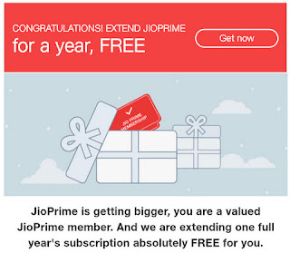 JIO offer one year free Prime membership