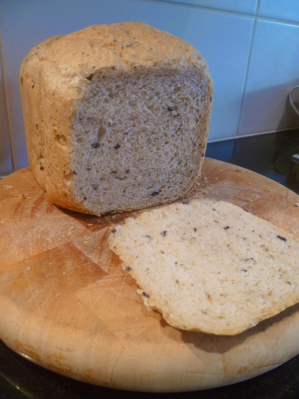 Mummy Baking Oregano And Black Olive Bread Panasonic Breadmaker