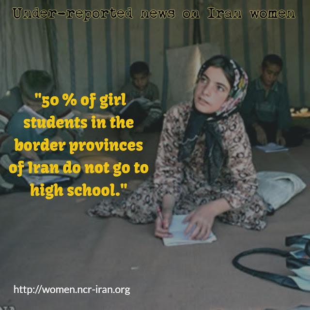 50 percent of girls in border provinces drop out of school