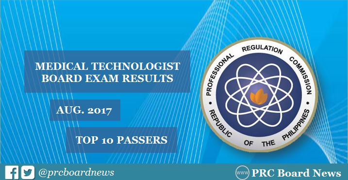 TOPNOTCHERS: August 2017 Medtech board exam top 10 passers