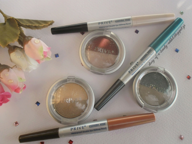 Prive Eyeshadows & Pencils : Review, Swatch