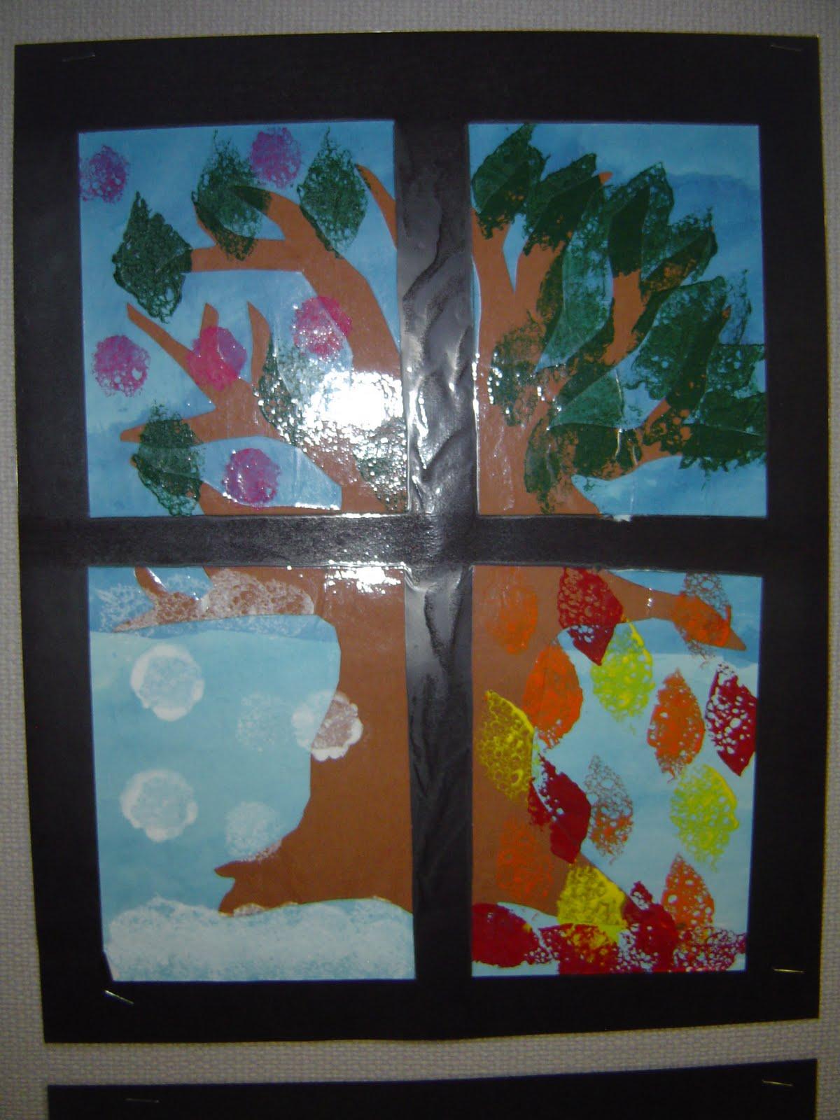 Mrs T S First Grade Class The Four Seasons