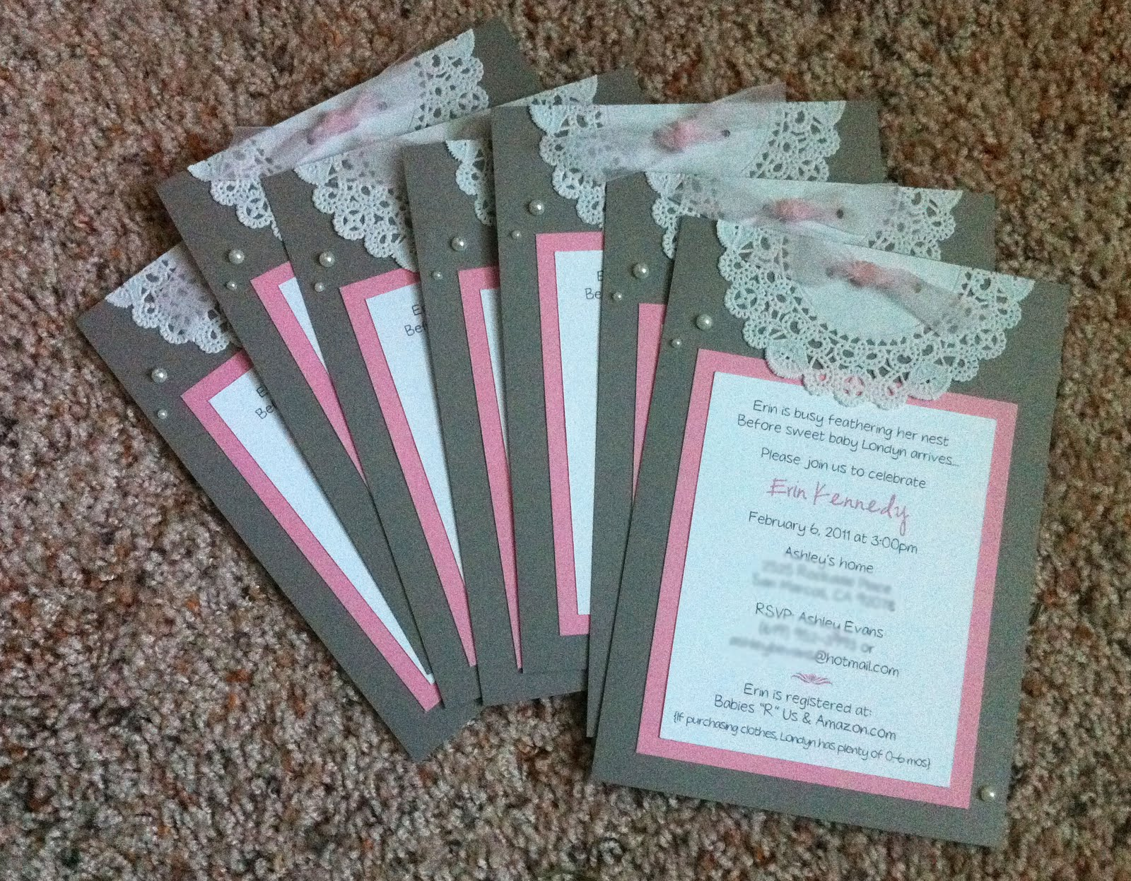 Pre Printed Baby Shower Invitations