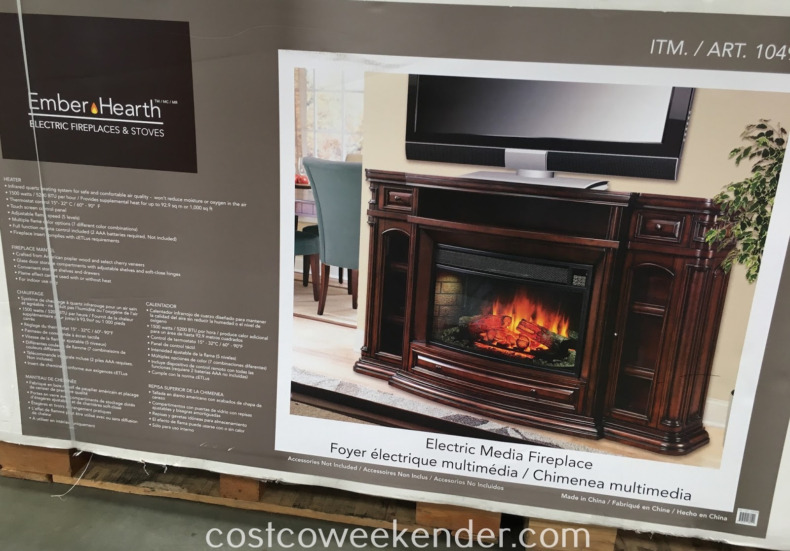 Well Universal Electric Media Fireplace