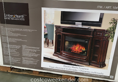 Costco 1049038 - Heat up your home with the Well Universal Electric Media Fireplace