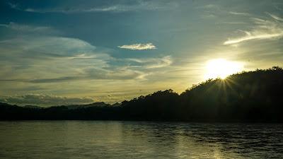 Sunset at Mekong Riverside in Luang Prabang
