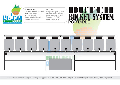 hidroponik dutch bucket system
