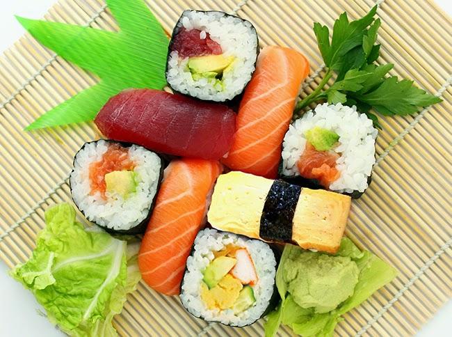 Las Algas - Receta de Sushi. Diferentes variantes y combinaciones