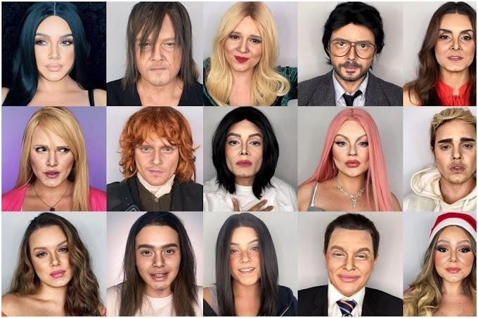 Influencer se transforma en Avril Lavigne y otros famoso solo con maquillaje