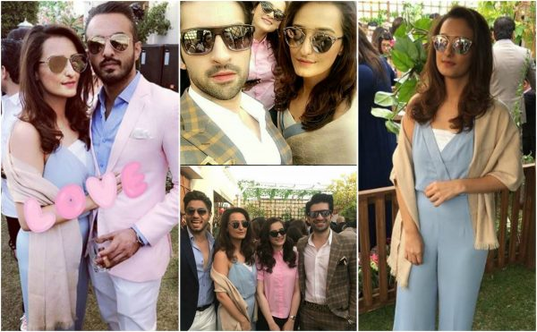Momal Sheikh with her Husband spotted at the Ohbehave brunch