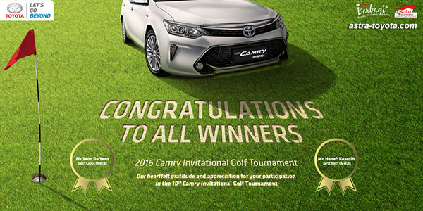 Pemenang Toyota Camry Invitational Golf Tournament 2016
