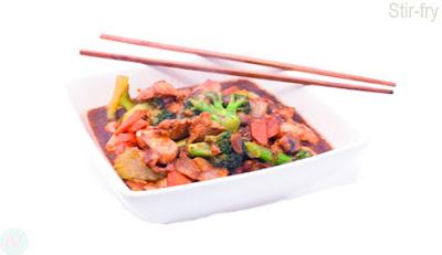 Stir-fry food