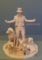 scultura personalizzata statuetta da foto mago da colorare colore unico orme magiche