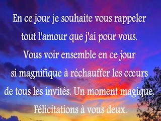 Texte Félicitation Mariage Messages Damour