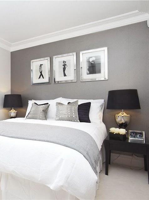 quarto em cinza, preto e branco, pintar paredes cor cinza