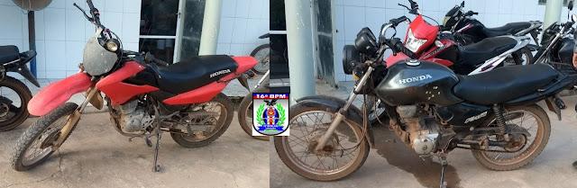 Mais duas motos roubadas são recuperadas por Policiais Militares em Brejo - MA