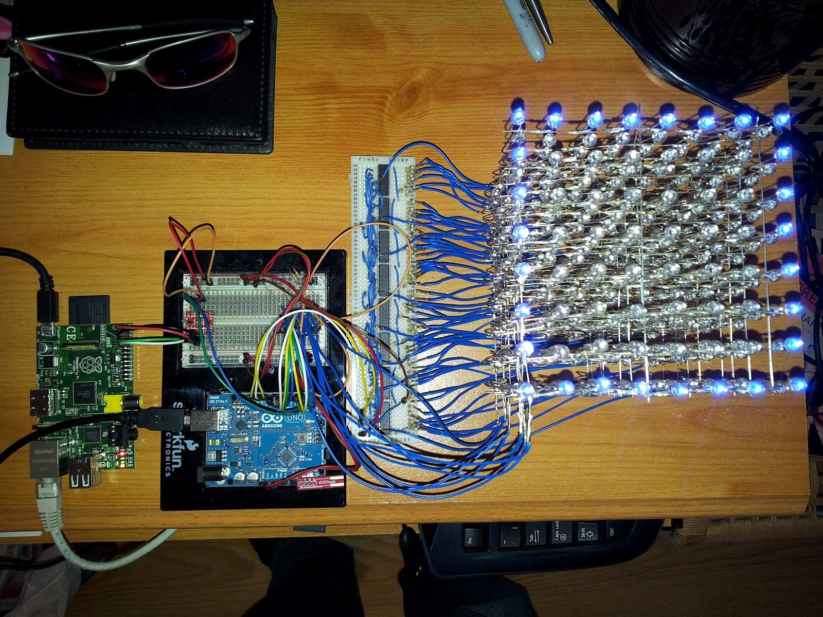 Building An 8x8x8 Led Cube The Driving Circuit Use Arduino For