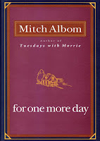 For One More Day Book Review Recommendation -Mitch Albom - Book Recommendations for Women Men Young Adults