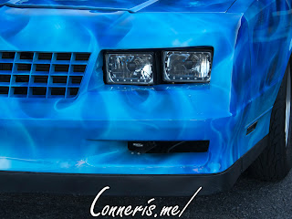 Chevrolet Monte Carlo Drag Car Head Light Detail