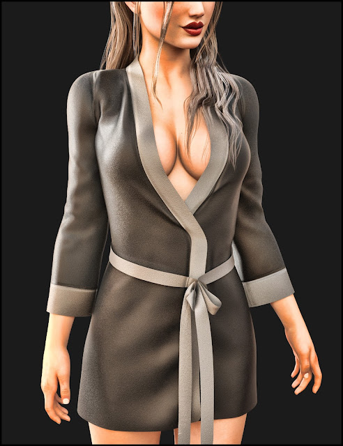 i13 Visions Silk Robe for the Genesis 3 Female