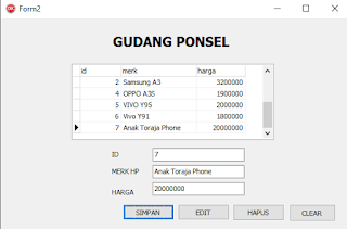 Cara membuat tombol save, edit, delete, dan clear di Delphi Terhubung Database Access