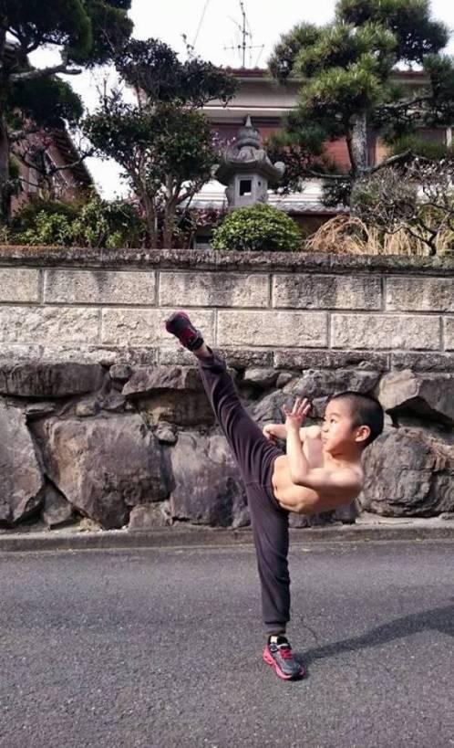 Imai Ryusei 'Tiny Bruce Lee' Bocah Usia 7 Tahun Berotot Seperti Bruce Lee