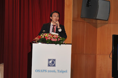 吳醫師於東方美容整形學會(2016 OSAPS)演講
