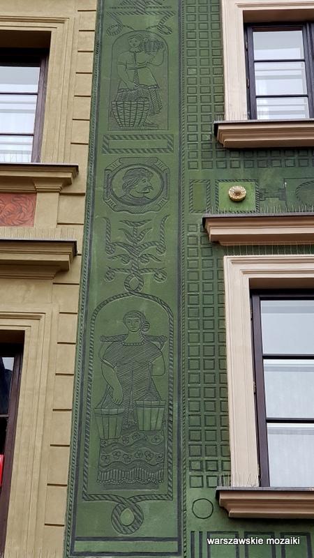 Warszawa Warsaw Stare Miasto ulice Starego Miasta kamienica architektura kamieniczki Old Town pod Chrystusem sgraffito