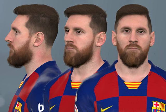 PES 2017 Lionel Messi New Face by WER Facemaker