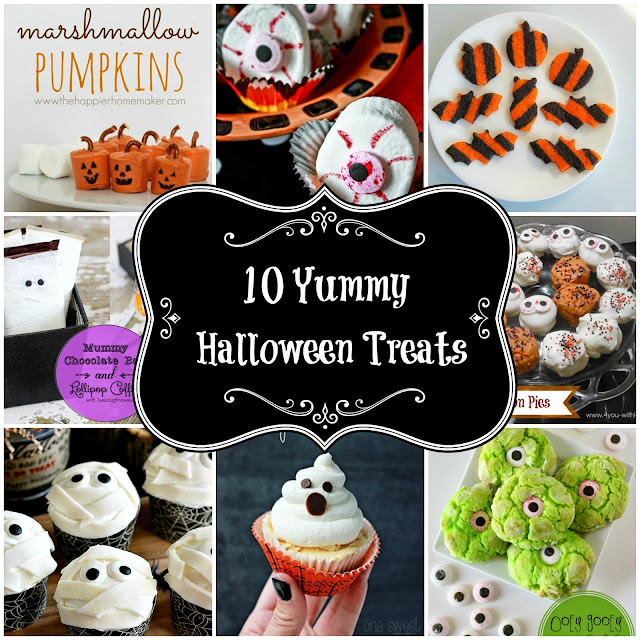 10 Yummy Halloween Treats from herecomesthesunblog.net #halloween