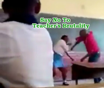 african teacher beat female student with stick classroom