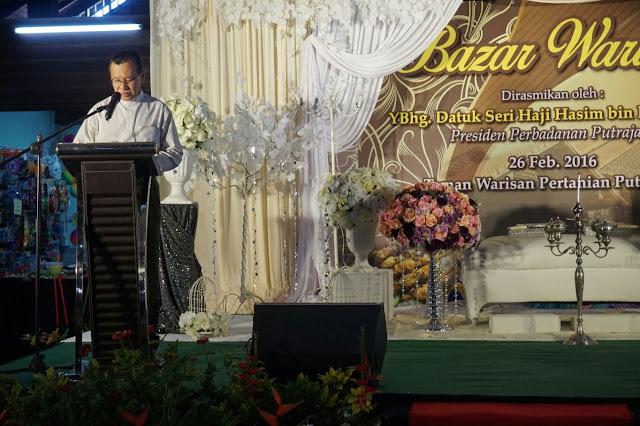 Bazar Warisan dirasmikan oleh Presiden Perbadanan Putrajaya, YBhg Datuk Seri Haji Hasim Haji Ismail