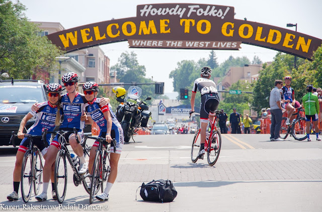 Welcome to Golden Colorado sign bike race