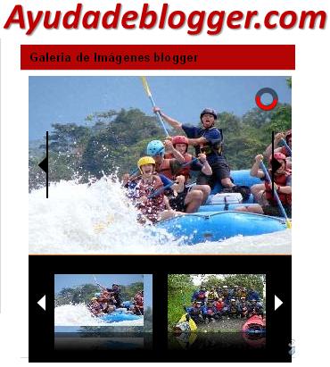 Widget Galería de Imágenes para blogger