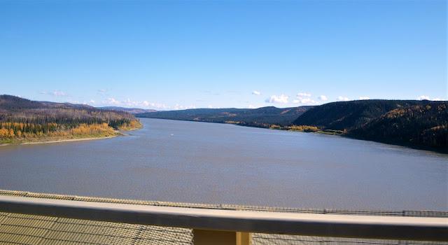 Yukon River bridge in Alaska on Dalton highway