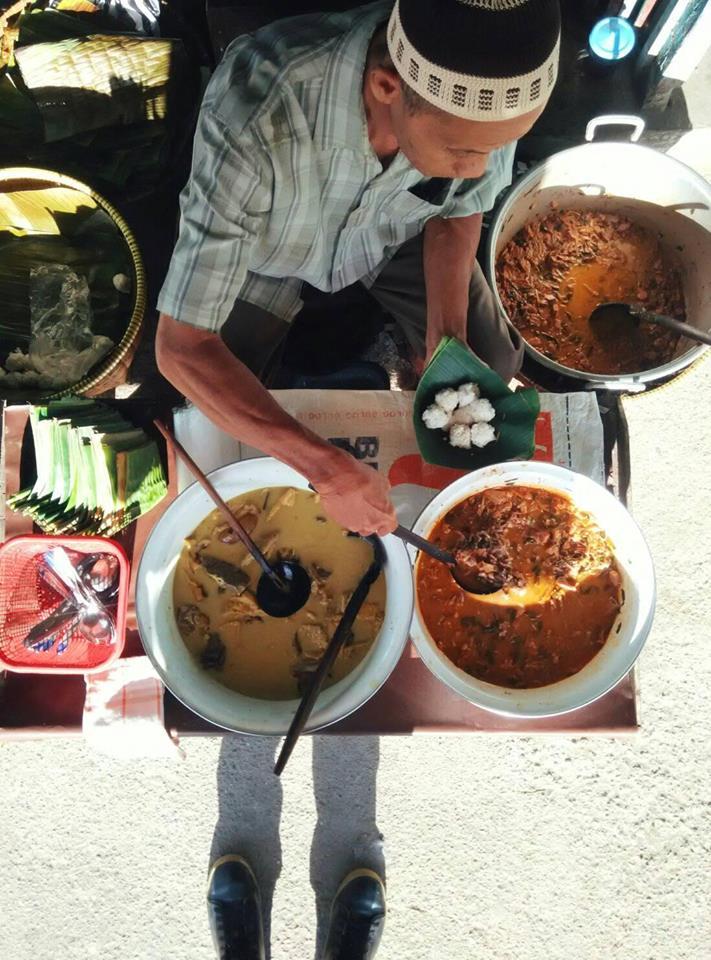 penjual nasi penggel khas kebumen