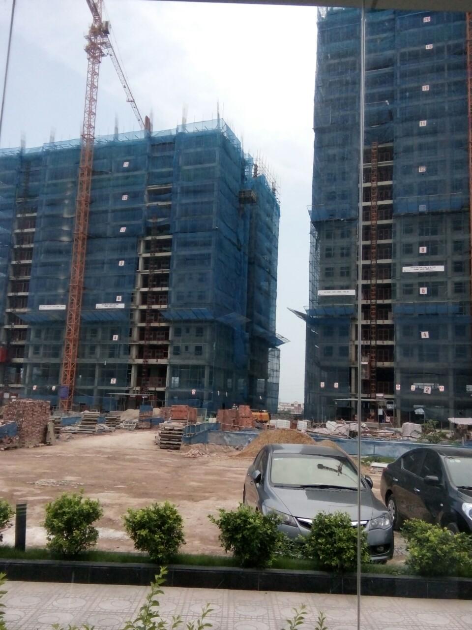 Tiến độ xây dựng tòa CT2 chung cư Hateco Apollo Xuân Phương
