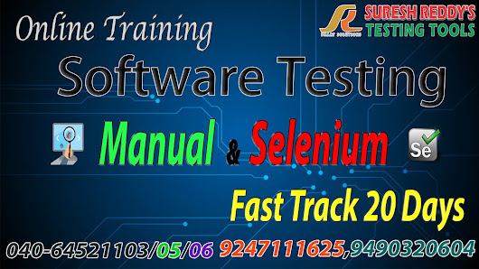 Advance Software Testing Tools Training in Online by Mr.Suresh Reddy Sir ( Manual & Selenium & QTP/UFT)
