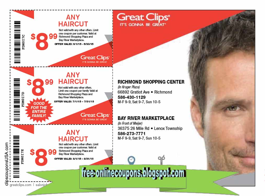 picture relating to Great Clips Printable Coupons identified as Printable Discount codes 2019: Excellent Clips Discount coupons