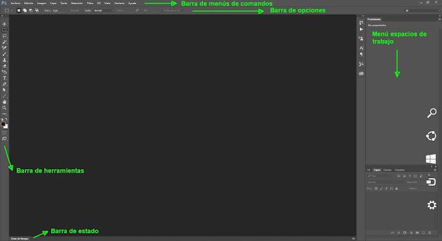 Configuración del espacio de trabajo en Photoshop